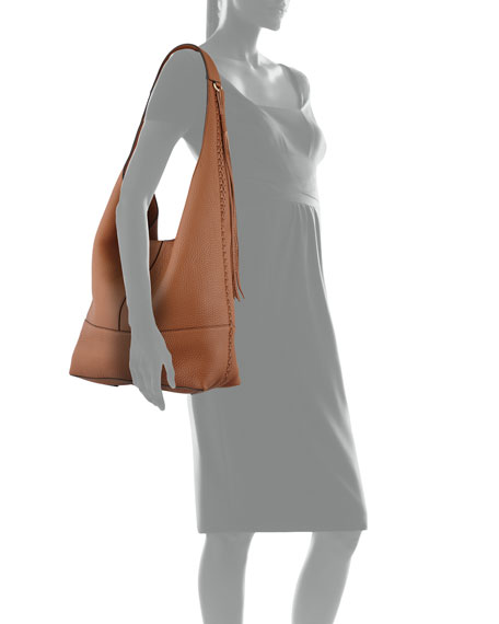 Unlined Slouchy Whipstitch Hobo Bag