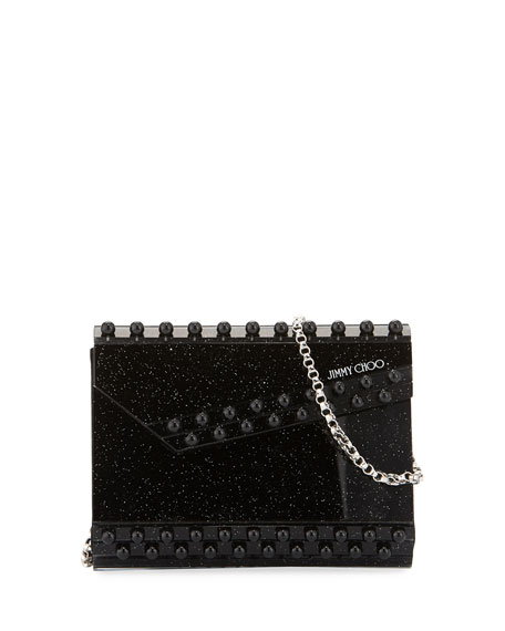 Jimmy Choo Candy Glitter Beaded Clutch Bag