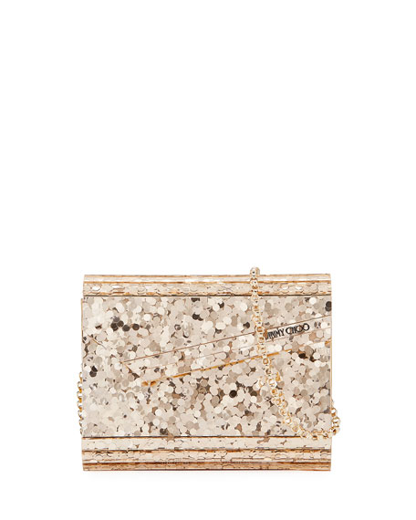 Candy Metallic Paillettes Clutch Bag