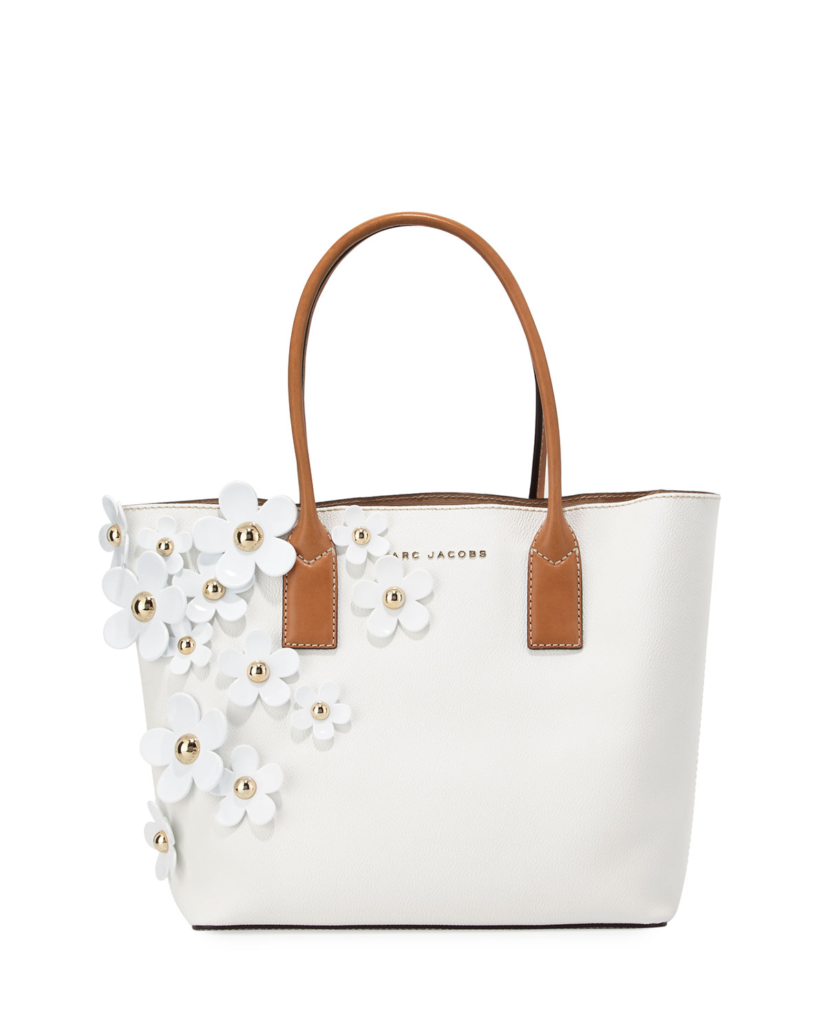 The Daisy Flower Tote Bag Lily White Multi