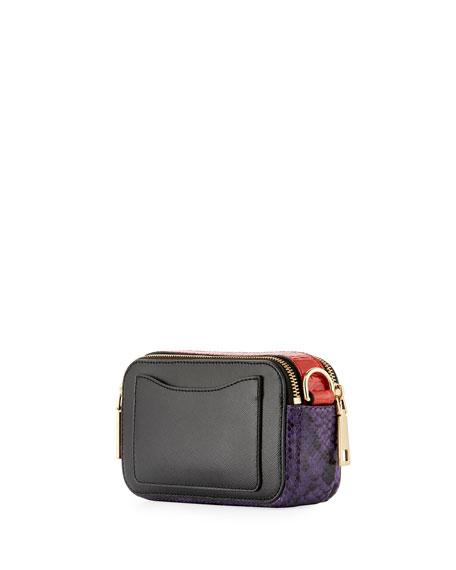 Snapshot Polka-Dot Camera Bag, White Multipattern