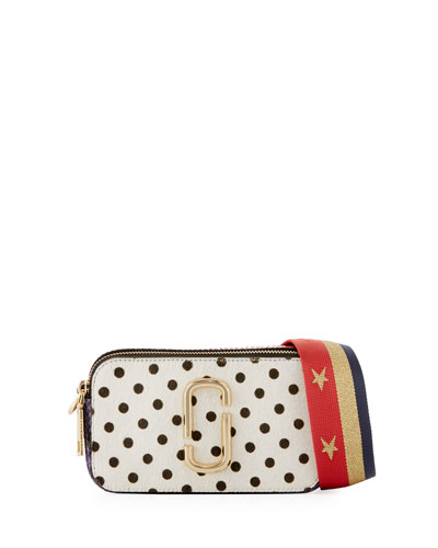 Snapshot Polka-Dot Camera Bag, White Multipattern