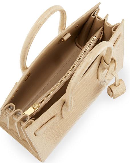 Sac de Jour Baby Croc-Embossed Leather Satchel Bag