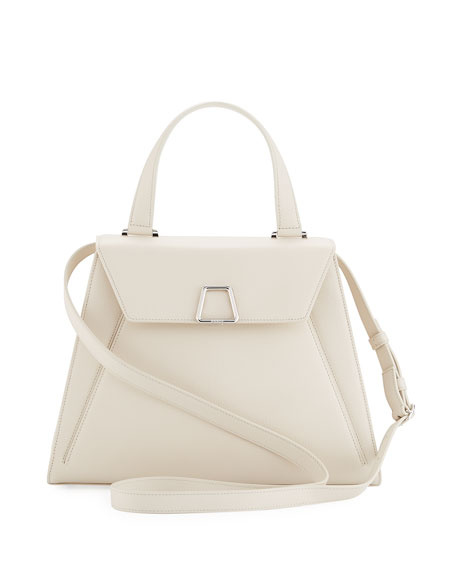 Akris Alba Framed Structured Calfskin Top Handle Bag