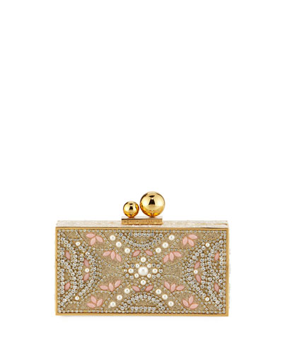 Clara Crystal Box Clutch Bag