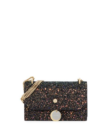 Jimmy Choo Finley Coarse Glitter Clutch Bag