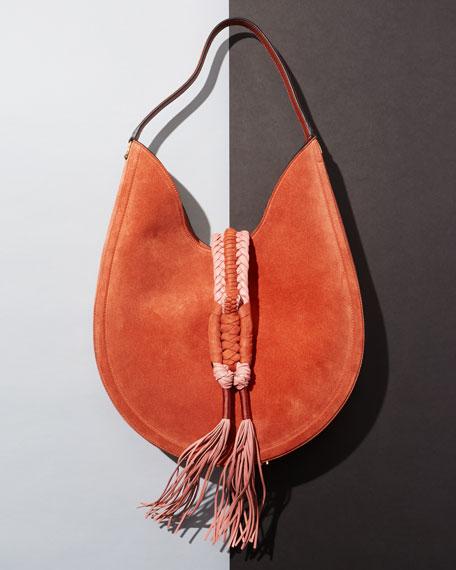 Altuzarra Ghianda Large Woven Suede Calfskin Hobo Bag
