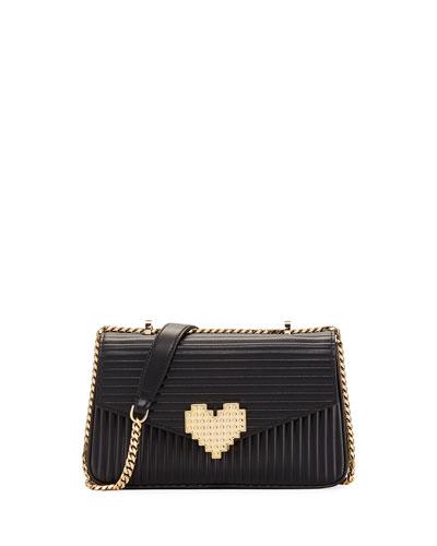 Ivy Lolita Plisse Leather Shoulder Bag