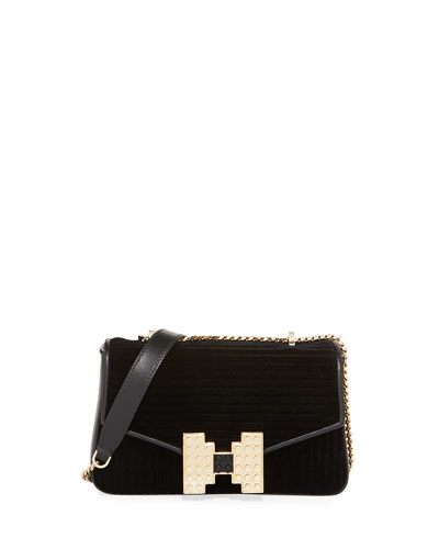Ivy Ribbon Plisse Shoulder Bag
