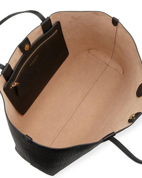 Lino Medium Embossed Leather Tote Bag