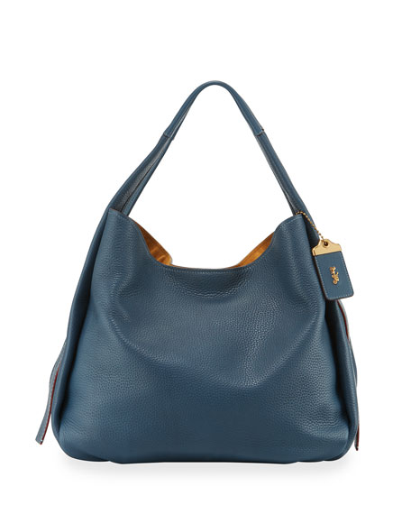 Coach 1941 Glove-Tanned Pebbled Leather Hobo Bag, Blue