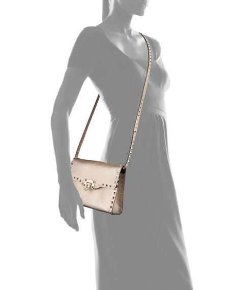 Rockstud Medium Crinkled Shoulder Bag
