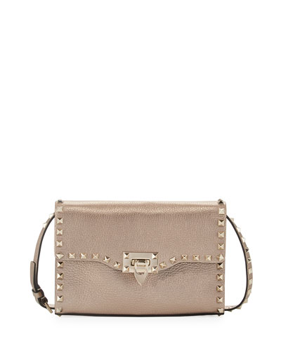 Rockstud Medium Crinkled Shoulder Bag