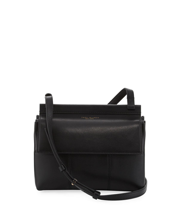 9af0d5d18de Tory Burch Block-T Leather Crossbody Bag