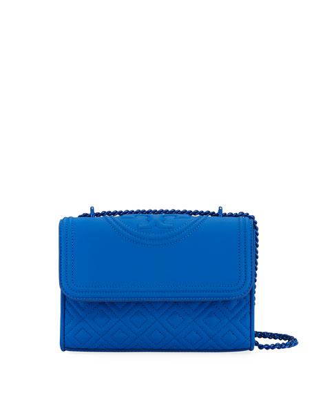 Fleming Small Matte Leather Shoulder Bag