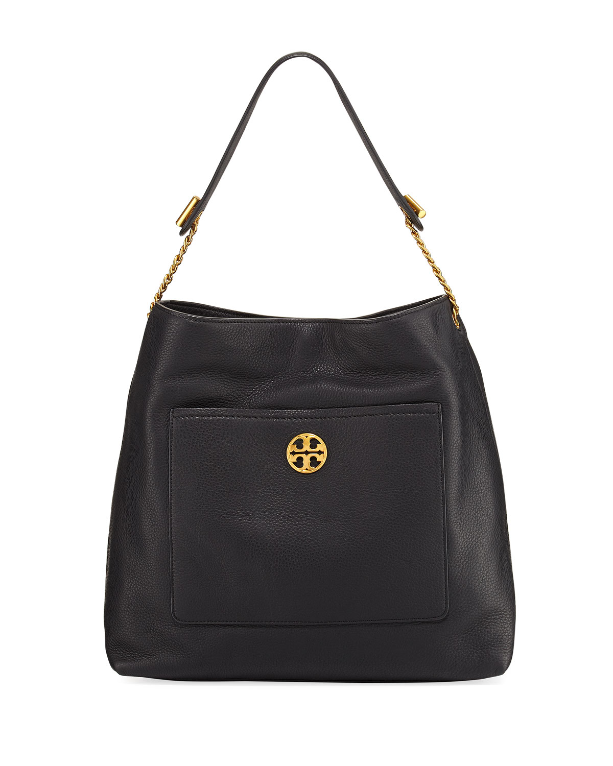 7967a5fb7384 Tory Burch Chelsea Chain Leather Hobo Bag