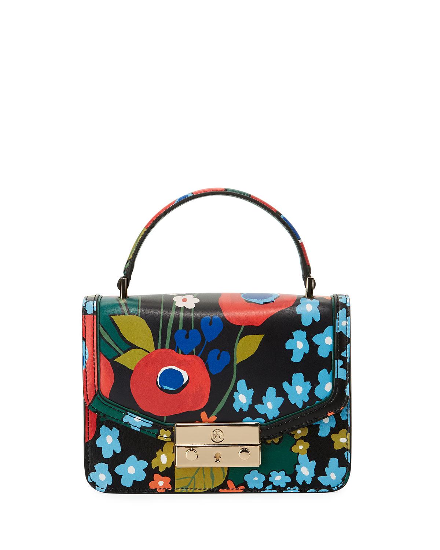 79f0e6db079e Tory Burch Juliette Printed Mini Top Handle Bag