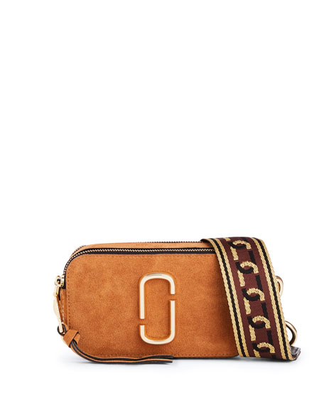 Marc Jacobs Chain Snapshot Suede Shoulder Bag