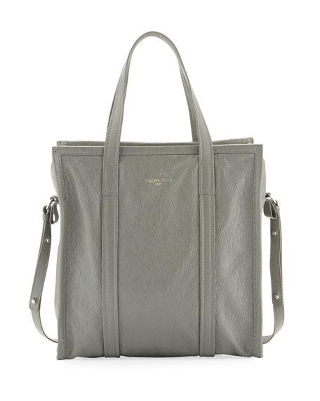 Balenciaga Bazar Shopper Small Tote Bag, Gray