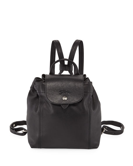 Longchamp Le Pliage Cuir Flap Backpack