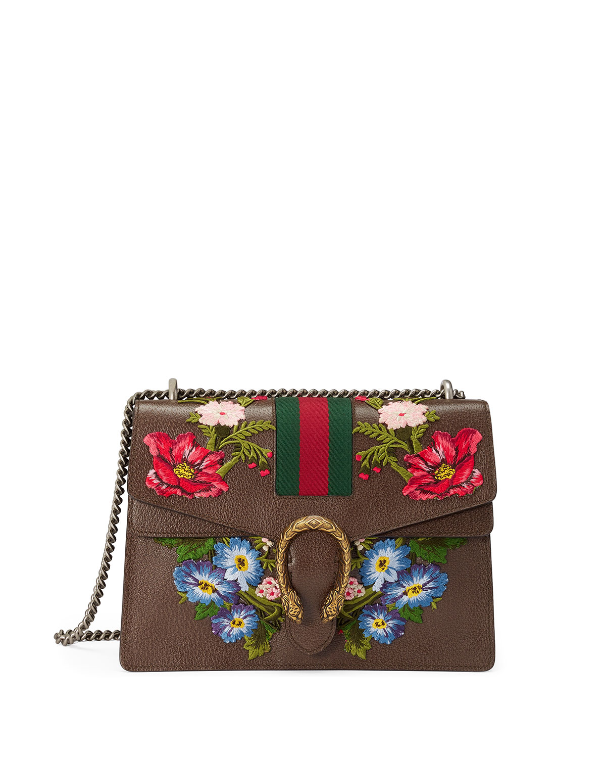 70abbba0cdc9 Gucci Dionysus Floral Embroidered Shoulder Bag, Gray/Multi | Neiman ...