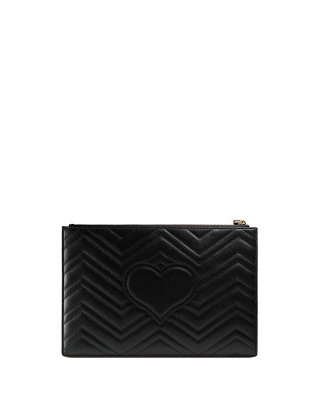 Small Zip-Top Flat Pouch Wristlet Bag