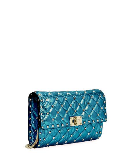 Rockstud Spike Medium Quilted Shoulder Bag, Blue