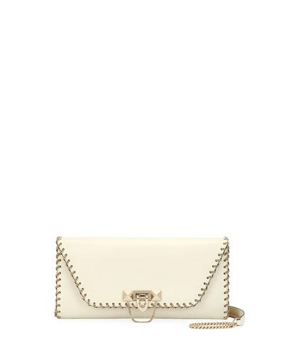 Demilune Vitello Leather Shoulder Bag