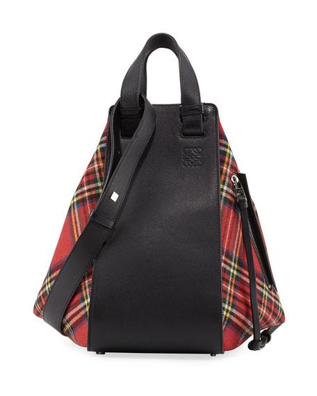 Loewe Hammock Small Tartan Convertible Bag