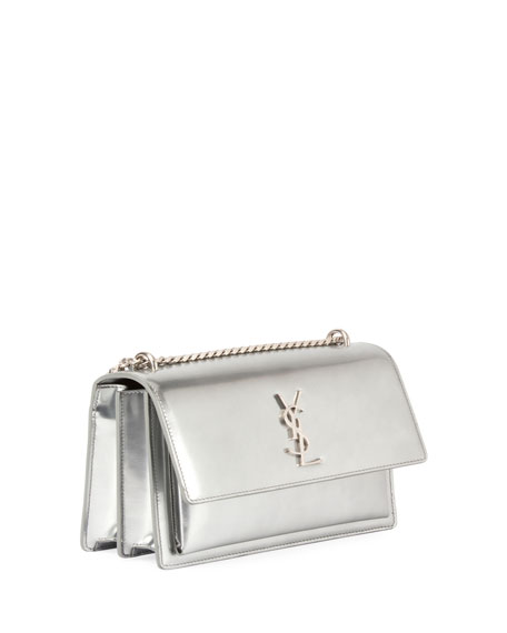 Monogram Sunset Medium Chain Shoulder Bag, Silver