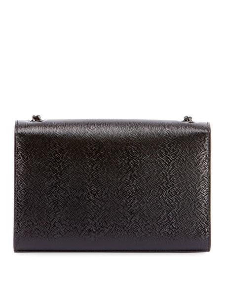 Saint Laurent Kate Small Grain de Poudre Chain Shoulder Bag, Black Hardware