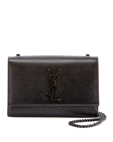 Saint Laurent Kate Monogram Grain Leather Small Chain
