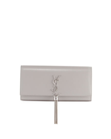 Kate Monogram Smooth Leather Tassel Clutch Bag