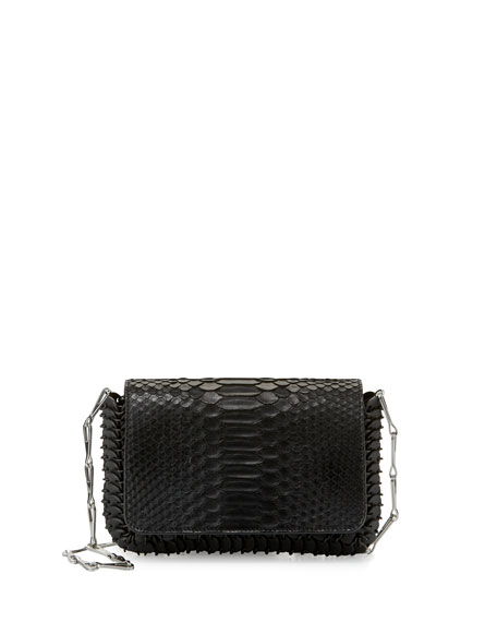 Paco Rabanne 14#01 Small Python Shoulder Bag
