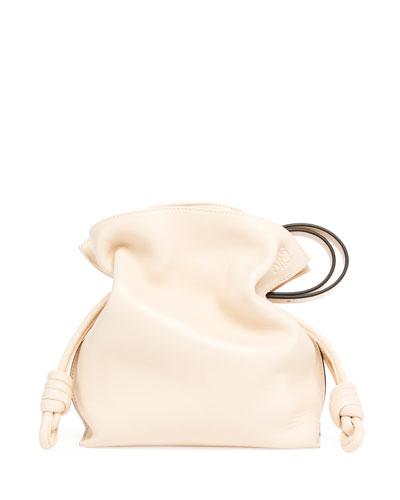 63983b45a008 Loewe Flamenco Knot Leather Bucket Bag from Neiman Marcus - Styhunt