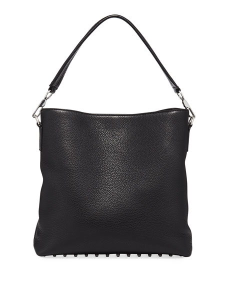 Alexander Wang Dumbo Pebbled Leather Hobo Bag, Black