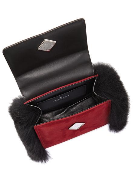 Baby Alex Eyes Fur Satchel Bag