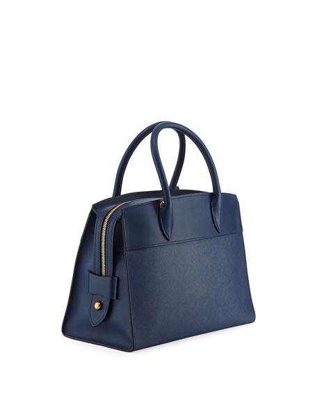 Esplanade Medium Leather City Satchel Bag