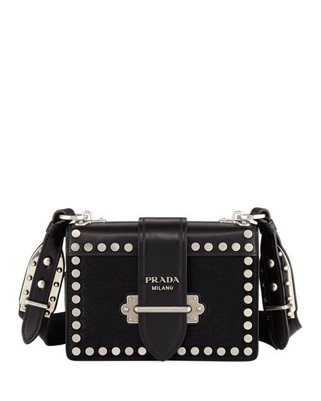 Prada Cahier Small Calf Hair Shoulder Bag