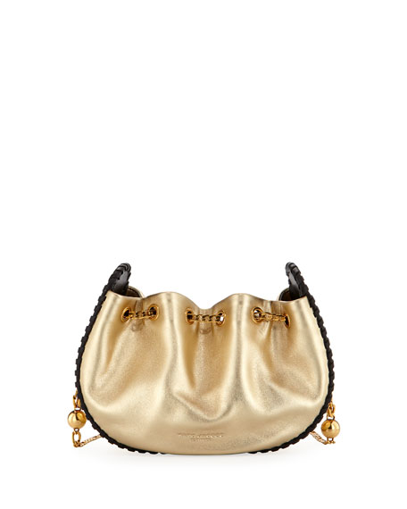 Sway Metallic Whipstitch Crossbody Bag