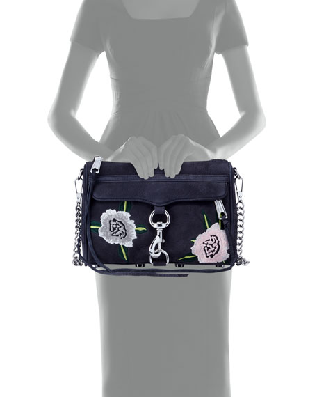 MAC Mini Embroidered Crossbody Bag