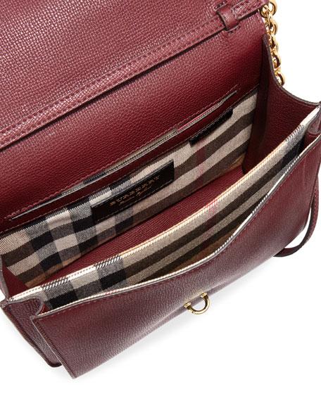 Macken Small Derby Crossbody Bag, Dark Red