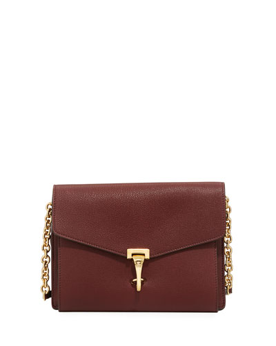 Macken Small Derby Crossbody Bag, Dark Red