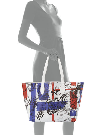 Union Jack Sketchbook Series Tote Bag, Multi