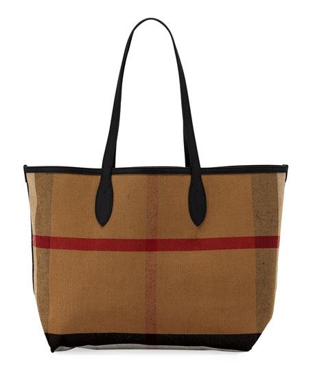 Logo Sketchbook Series Medium Tote Bag, Black Pattern