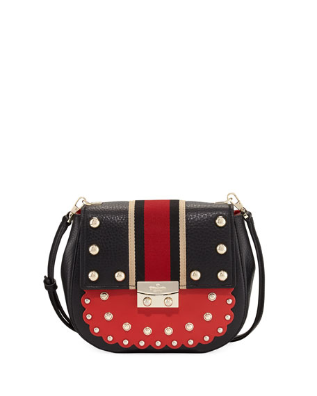 madison street stewart byrdie studded crossbody bag