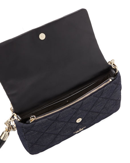 emerson place quilted denim shoulder bag