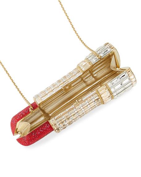 Seductress Crystal Lipstick Clutch Bag