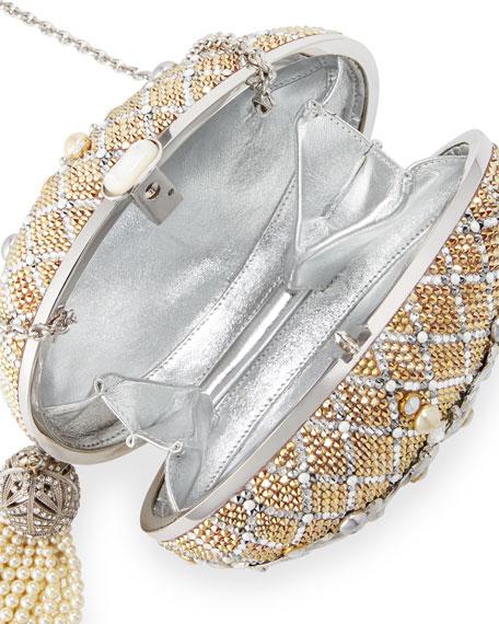 Crystal Egg Clutch Bag