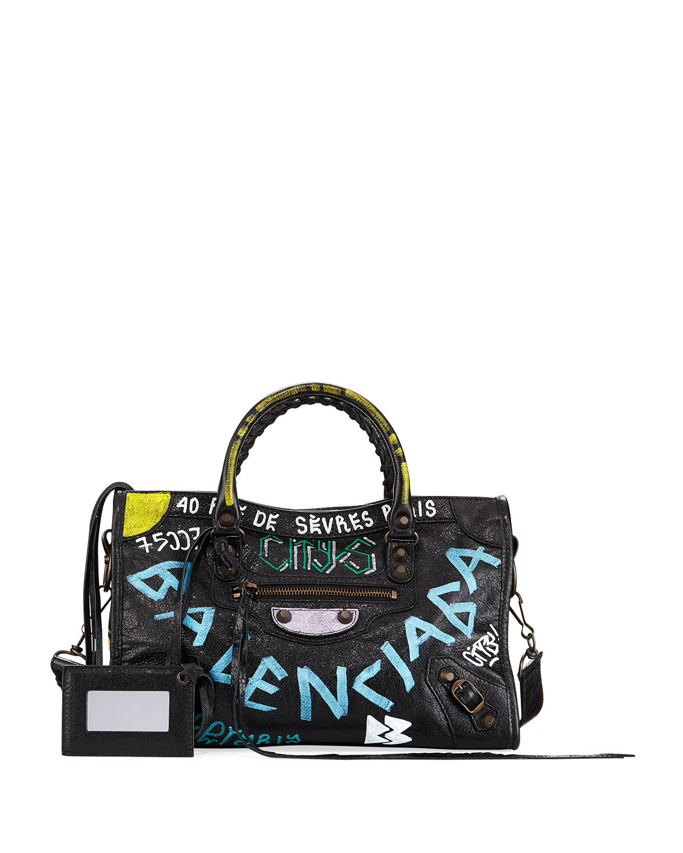 3163bac2fd69 Balenciaga Classic City Graffiti Tote Bag